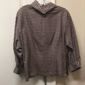 Zara Plaid Top Size Small